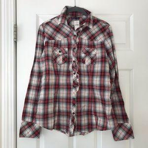 GAP NWT Women's Ruffle Button Down Shirt, Size M